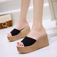 Slippers 2021 Summer Trend Sandals And Women's Slope With Thick-soled Lightweight Casual High-heeled Women