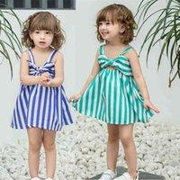 Baby Girls Princess Dress Summer's Summer's Slipped Skirt Bella senza maniche Big Bowknot Slip Abiti Festa di compleanno Vestiti di Natale G55L0LNA