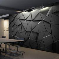 회색 배경 화면 3D 스테레오 기하학적 추상 회색 기하학적 배경 화면 배경 거실에 대 한 현대 벽지 1451 v2