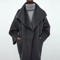 Women's Wool & Blends Cashmere Women Woolen Jacket Turn-down Collar Loose Coat Classic Casual Keep Warm Wild Lady