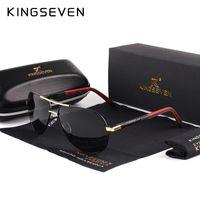 نظارات شمسية Kingseven الرجال خمر الألومنيوم الاستقطاب الكلاسيكية ماركة نظارات الشمس طلاء عدسة القيادة نظارات للرجال / النساء