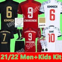 2021 2022 Lewandowski Bayern Ribery Hummels 축구 유니폼 뮌헨 성인 남성 키트 키트 청소년 22 22 Vidal Muller Sane 홈 멀리 3 차 어린이 축구 유니폼