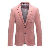 Giacca da uomo invernale Ultima fascia alta rosa corduroy abbigliamento formale business casual elegante blazer banchetto top