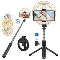 L07 Bluetooth selfie stick portatile monopods 5 pollici anello riempimento luce ancoraggio luci mobili telefono cellulare
