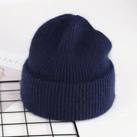 Beanies Selling Knitted Hat Solid Color High Elasticity All-Match Casual Curled Edge Beanie Winter Cover Head Cap