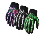 Nuevos guantes a través de la cruz americana Motocicleta Profesional Concurso de automóviles Guantes de equitación verano delgado equipo de montar dedo largo