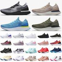 Üst Moda Epik REACT Sinek Örgü Ayakkabı Erkek Kadın Koşu Ayakkabı Üzerinde Kayma Beyaz Siyah Bej Pembe Spor Trainers Tasarımcı Sneakersjrib #