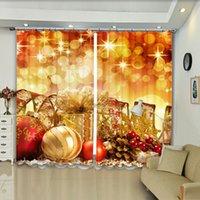 2021 Hot-selling 3D Cortina digital com luzes de néon douradas padrão de dia de Natal blackout espessado