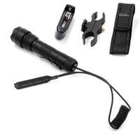 CREE XM-L2 U3-1A 1MODE (ON / OFF) Lámpara de caza LED + interruptor remoto táctico + Cargador + Monte en la pistola + Flaster Linternas Antorchas