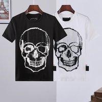 PHILLIP PROLA PP Дизайнер мужской череп алмазные футболки с коротким рукавом бренд весенний и летний высокий уплотнитель качества череп футболки Thets 04