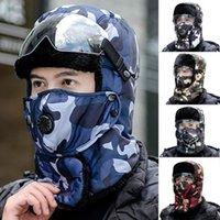 Adulto Ao Ar Livre Gosqueiros De Ciclismo Homens Esporte Chapéus Proteção Inverno Mantenha Máscara Quente Máscara Camuflagem Caps Bombardeiro