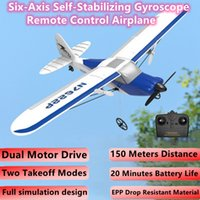 New EPP Fall-Resistant Material Simulation Remote Control Airplane Six-Axis Self-Stabilizing Gyroscope Dual-Motor Drive RC Plane