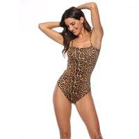 Top Euro Style1 Frauen Sommer Kleidung Mode 2021 Leopard / Schlange drucken Skinny Body Anzug Sexy Streetwear Spaghetti Strap Body