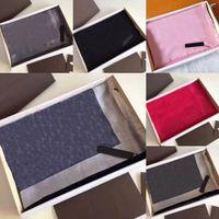 2021 New Fashion Real Seta Mantenere la sciarpa calda Sciarpa di alta qualità Sciarpa di seta 4 stagione Shaw Lettera Sciarpe Sciarpe Top Quality HB0402