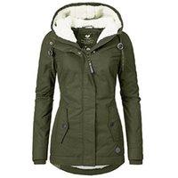 Women's Jackets Cotton Padded Jacket Tops Autumn Winter 2021 Casual Women Outwear Overcoats Long Sleeve Black Basic Warm Parka