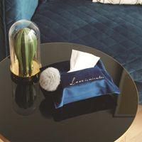 Boîtes de tissus Serviettes Nordic Inster Néerlandais Velvet Brodée Boule à bille Couverture de pompage de ménage