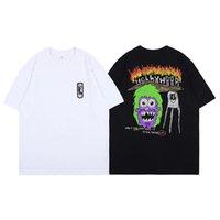 Travis Scott Astroworld T-Shirt für Männer und Frauen Paar Festival Glückliches Gesicht Lächeln Erde Kurzarm T-Shirt Mode Casual Tops