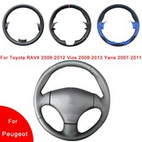 Steering Wheel Covers Breathable Hand-Stitched Artificial Leather Car Cover For 206 1998-2005 SW 2003-2005 CC 2004 2005
