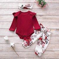 3pcs 아기 소녀 옷을 설정 태어난 아이 의류 Childern 유아 의상 유아 세트