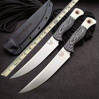 """BenchMade 15500-1 Охота Мясопередача фиксированного ножа 6.08 """"S45VN Blade G10 Ручка Открытый кемпинг Охотничьи Карманные Кухонные фрукты 133 140 15002 15500-2 Ножи"""