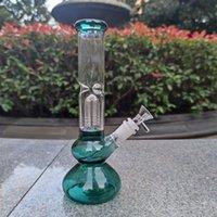 25 cm 10 pulgorro de pacto verde filtro de árbol de cristal delgado bong de agua pipa fumando hookah bongs extra cepillo de ceniza de 14mm