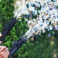 Nouveaux enfants Gatling Bubble Pistolet Jouets Été Machine à bulles d'eau de savon automatique pour enfants Toddlers Bulle de mariage en plein air intérieur