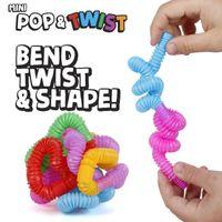 DIY Criativo Fidget Brinquedos Círculo Colorido Plástico Tubo Bobina Infantil Brinquedos Engraçados Brinquedo Dobrável Educacional Educacional