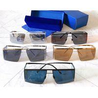 HL001 Güneş Gözlüğü Metal Çerçeve Ultra-ince Lens Moda Rahat Tarzı Parti Gözlükleri Yan Koruma Gözler Köşeleri için UV400 Kişilik Eğilim Yüksek Kalite