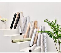 Wallpapers Kitchen Sticker Waterproof And Oil Proof Self Adhesive Wallpaper Marbling Cabinet Table Background Wall Old Furniture Renovation