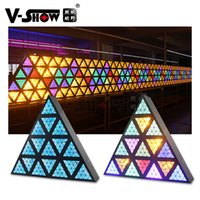 V-Show USA Lager 1PC-Dreieck Retro 1630LED Bühneneffekt-Licht 16pcs30w Goldene Lichter für DJ-Disco-Beleuchtung