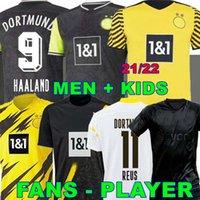 Jugador versión 1990 Edición limitada Haaland Reus Borussia 20 21 22 4th Dortmund Soccer Jersey 2020 2021 Camisetas de fútbol Bellingham Sancho Hummels Brandt Men + Kit Kit