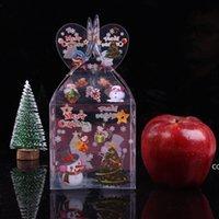 PVC Noel Hediyeleri Ambalaj Kutuları Noel Arifesi Elma Şeker Ambalaj Kutusu Yaratıcı Kişilik Noel Hediyeleri Kutusu DHE8723