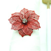 Blumenförmige Serviette Ring Metall Servietten Schnalle Ringe Hochzeit Tisch Dekoration Handtücher Dekor Schnallen Multi Colors KKB7474