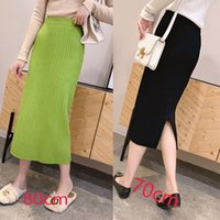Skirts Winter Wool Blend Split Mid Knitted Skirt Cashmere Warm Hip Slim Mid-calf Knit 5 Colors Sexy Pencil High Quality