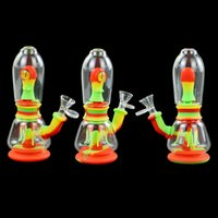 unique shape hookah oilrigbongpipe Smoking Accessories glass water bubbler hookahs Inch with 14mm bowl