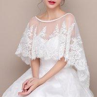 Wraps & Jackets White Lace Bridal Bolero Jacket For Wedding Bridemaids Dresses Evening Coat Short Wrap