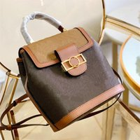 Luxury Designer 2021 SS Backpack Style Crossbody Bag Classic Handbag Cowhide Letter Lock Hasp Single Handle Satchels Lady Fashion Handbags Shoulder Bags