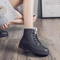 Stivali da donna moda inverno neve calda e confortevole Plus in velluto scarpe in cotone corto impermeabile martinbooots