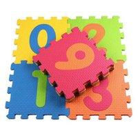 10 pçs / lote bebê eva espuma play puzzle mat / 18 ou 24 / lote intertravamento exercício telhas tapetes tapete para garoto, cada 30cmx30cm h0831