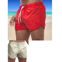 2020 Men's Beach Short Pants Board GYM Running Fashion Man Surfing Beach Pants Shorts with Pocket Quick Dry Swimming
