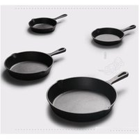 Pans Cast Nonstick 1426Cm Skillet Frying Flat Pan Gas Induction Cooker Iron Egg Pancake Pot Kitchen Dining Tools Cookware Ccjn6 Mh3Nx