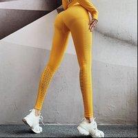 Atualizar calças femininas cintura alta ginásio leggings mulheres eryell sem emenda de malha sem costura yoga barriga controle fitness treino esportivo