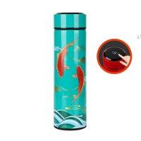 الإبداعية زجاجة المياه المطلية 304 المقاوم للصدأ القهوة القدح اللون الذكية تغيير درجة الحرارة فراغ قارورة هدية NHF7310