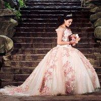 2021 Off the Shoulder Quinceanera Dress 3D Flowers Appliques Party Princess Sweet 16 Ball Gown Vestidos De 15 Años