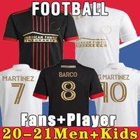 마르티네즈 20 21 애틀랜타 유나이티드 홈 블랙 멀리 화이트 축구 유니폼 가르자 존스 Villalba Almiron 2021 축구 셔츠