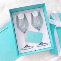 2 stücke Hochzeit Champagnerflöten Kristalline Party Toasting Glass Becher Crystal Grave Jubiläumsgeschenk mit Box