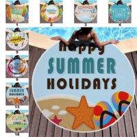 Strandtücher tropisch gedruckt Große Outdoor Camping Picknick Mikrofaser Runde Stoff Badetuch Für Wohnzimmer Home Dekorative 18 Arten