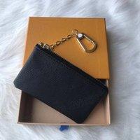 Top Qualité Design Porte-monnaie portable Porte-monnaie Noir Fleurs Portefeuille Classic Homme Femme Sac Chaîne Pochette avec sacs à poussière et boîte
