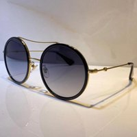 Erkekler ve Kadınlar için Güneş Gözlüğü Yaz Stil 0061S Anti-Ultraviyole Retro Yuvarlak Plaka Tam Çerçeve Moda Gözlükler Paket Ile Gelin 0061