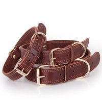 Wanda cowhide collar, copper clasp, golden fur, special collar for medium and large leashes Dog collars leashess, petGU4N